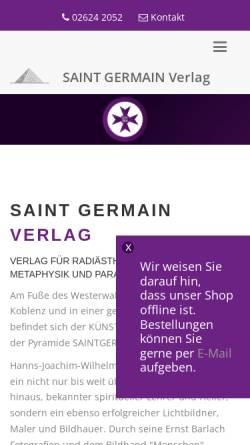 Vorschau der mobilen Webseite www.starczewski-verlag.de, Saint Germain
