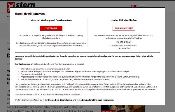 Vorschau von www.stern.de, Stern.de: Metal Gear Solid 4 - Der alte Mann und der Krieg