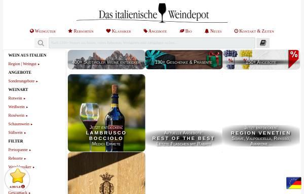 Vorschau von www.gerardo.de, Das italienische Weindepot