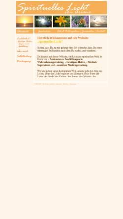 Vorschau der mobilen Webseite www.spirituelles-licht.de, Spirituelles Licht