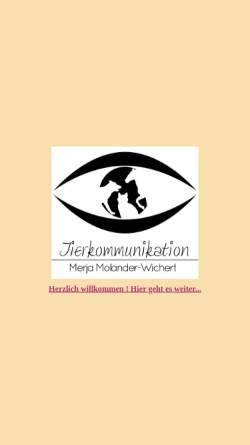 Vorschau der mobilen Webseite www.merjamolanderwichert.de, Merja Molander-Wichert