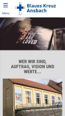 Vorschau der mobilen Webseite blaues-kreuz-ansbach.de, Blaues Kreuz Ansbach e. V.