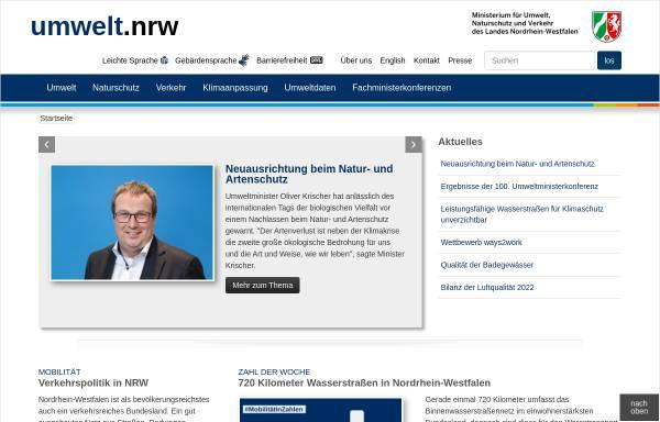 Vorschau von www.munlv.nrw.de, Ministerium für Klimaschutz, Umwelt, Landwirtschaft, Natur- und Verbraucherschutz des Landes Nordrhein-Westfalen (MKULNV NRW)