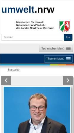 Vorschau der mobilen Webseite www.munlv.nrw.de, Ministerium für Klimaschutz, Umwelt, Landwirtschaft, Natur- und Verbraucherschutz des Landes Nordrhein-Westfalen (MKULNV NRW)