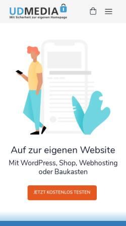 Vorschau der mobilen Webseite www.udmedia.de, UD Media GmbH