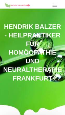 Vorschau der mobilen Webseite www.naturheilpraxis-frankfurt-main.de, Hendrik Balzer