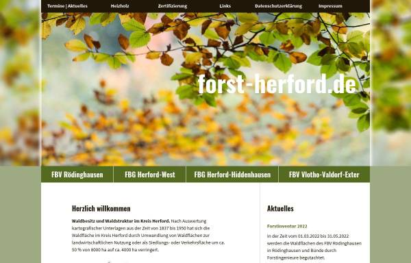 Vorschau von www.forst-herford.de, Forst-Herford.de