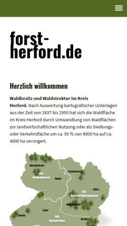 Vorschau der mobilen Webseite www.forst-herford.de, Forst-Herford.de