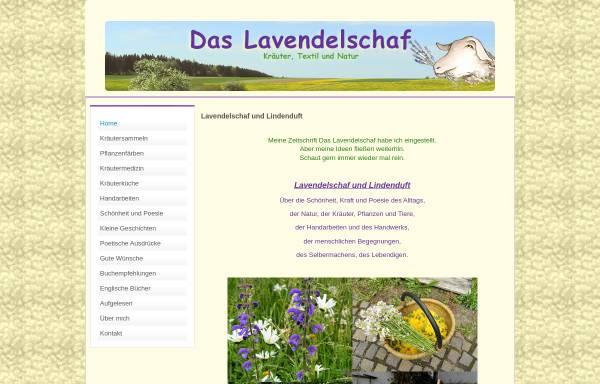 Vorschau von www.lavendelschaf.de, Das Lavendelschaf