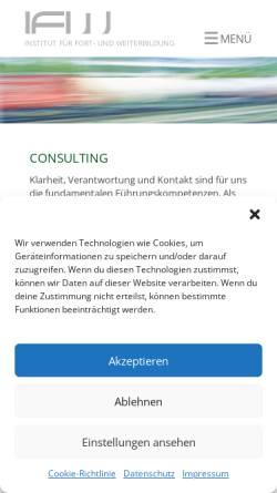 Vorschau der mobilen Webseite www.i-f-w.de, Institut für Fort- und Weiterbildung München