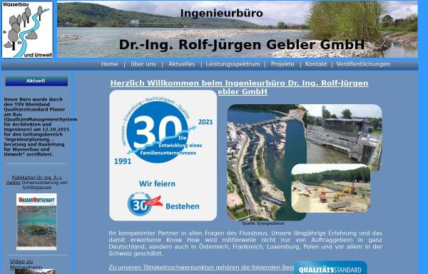 Vorschau von www.ib-gebler.de, Ingenieurbüro Dr. Gebler