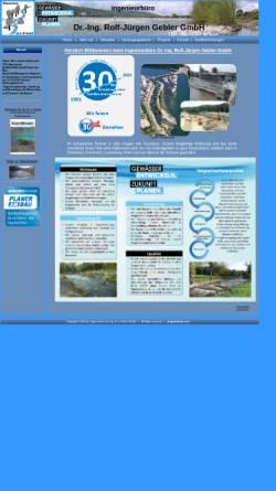 Vorschau der mobilen Webseite www.ib-gebler.de, Ingenieurbüro Dr. Gebler