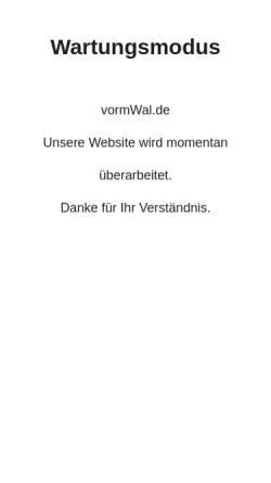 Vorschau der mobilen Webseite www.vormwal.de, vormWalde Unternehmensberatung