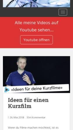 Vorschau der mobilen Webseite www.godiz.ch, Schulungen für digitalen Videoschnitt