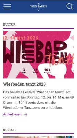 Vorschau der mobilen Webseite www.wiesbaden.de, Landeshauptstadt Wiesbaden