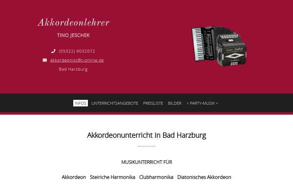 Vorschau von www.akkordeonunterricht.com, Akkordeon-Unterricht in Bad Harzburg & Lehrer für Steirische Harmonika, Club-Harmonika