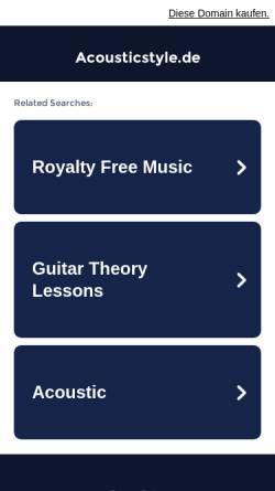 Vorschau der mobilen Webseite www.acousticstyle.de, Acoustic Style