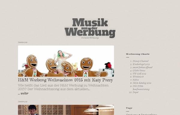 Vorschau von musik-aus-der-werbung.de, Musik aus der Werbung