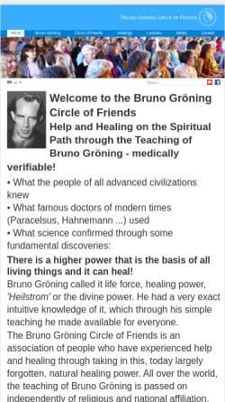 Vorschau der mobilen Webseite www.bruno-groening.org, Bruno Gröning-Freundeskreis