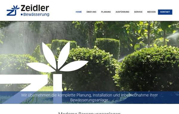 Vorschau von www.zeidler-bewaesserung.de, Zeidler Gartenbewässerung, Heike Zeidler