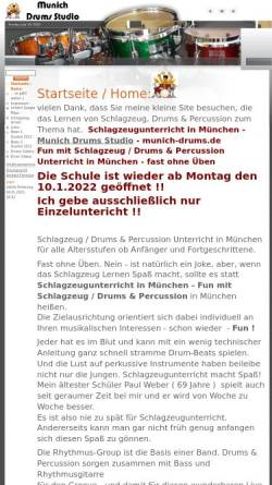 Vorschau der mobilen Webseite munich-drums.de, Munich Drums