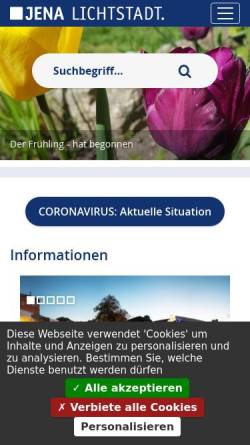 Vorschau der mobilen Webseite www.jena.de, Musik- und Kunstschule Jena
