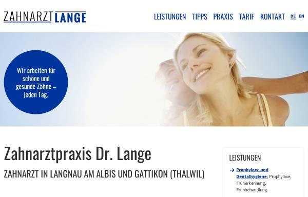 Vorschau von www.zahnarzt-lange.ch, Dr. med. dent. Andreas Lange