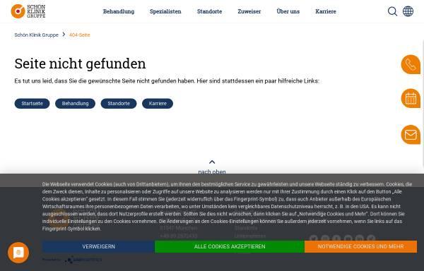 Vorschau von www.schoen-kliniken.de, Klinik für operative und interventionelle Gefässchirurgie