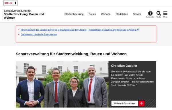 Vorschau von www.stadtentwicklung.berlin.de, Senatsverwaltung für Stadtentwicklung