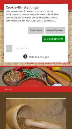 Vorschau der mobilen Webseite www.xn--rosmaries-gewrze-vzb.de, Rosmaries Gewürze