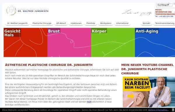 Dr Walther Jungwirth Facharzt Für ästhetische Chirurgie In