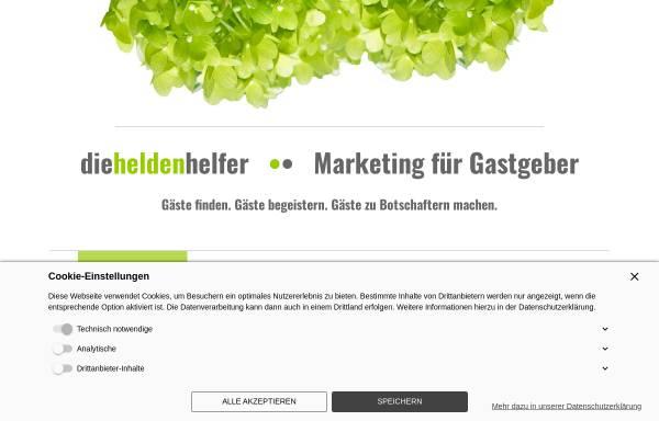 Vorschau von www.die-heldenhelfer.de, Die Heldenhelfer – Marketing für Gastgeber