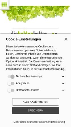 Vorschau der mobilen Webseite www.die-heldenhelfer.de, Die Heldenhelfer – Marketing für Gastgeber