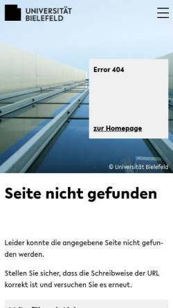 Vorschau der mobilen Webseite www.uni-bielefeld.de, Journal für Konflikt- und Gewaltforschung
