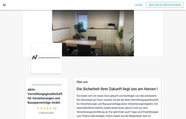 Vorschau von www.aktiv-vermittlung.de, Aktiv Vermittlungs-Gesellschaft GmbH
