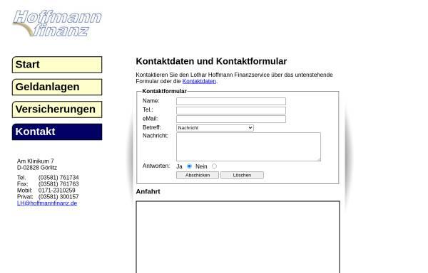 Vorschau von www.hoffmannfinanz.de, Lothar Hoffmann Finanzkaufmann e.K.