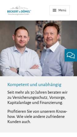 Vorschau der mobilen Webseite www.versicherungsvergleich-sachsen.de, Maklerbüro Dömel, Inh. Holm Dömel