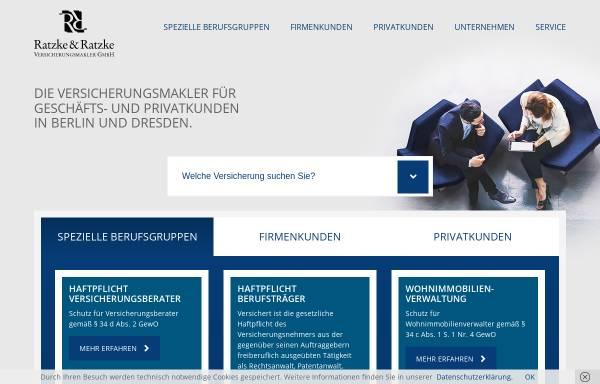 Vorschau von www.rrvm.de, Ratzke & Ratzke Versicherungsmakler GmbH
