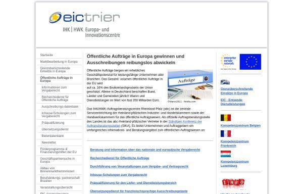 Vorschau von www.abc-rlp.de, Auftragsberatungscentre Rheinland-Pfalz