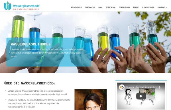 Vorschau von wasserglasmethode.com, Rechen-Therapie-Zentrum Hirschberg