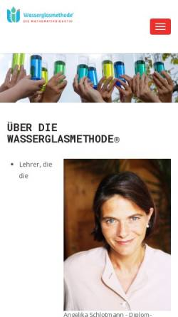 Vorschau der mobilen Webseite wasserglasmethode.com, Rechen-Therapie-Zentrum Hirschberg