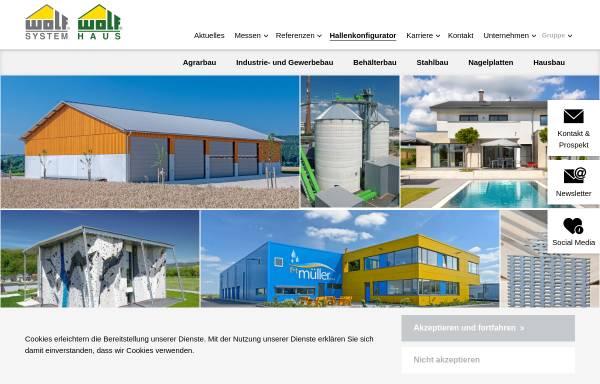 Wolf System GmbH in Osterhofen: Fertigbau, Wohnungsbau wolfhaus.de