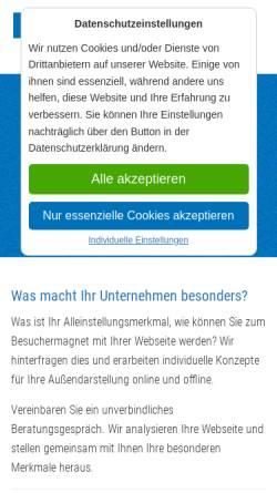 Vorschau der mobilen Webseite www.eurofile.de, Werbeagentur New Media - Inh. Volker Stegmann