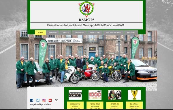 Vorschau von www.damc05.de, Düsseldorfer Automobil- und Motorsport-Club 05 e.V.
