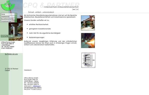 Vorschau von www.cpq.it, CPQ & Partner GmbH