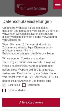 Vorschau der mobilen Webseite www.nwz-frankfurt.de, NordWestZentrum