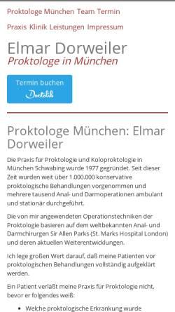 Vorschau der mobilen Webseite www.proktologie-bayern.de, Proktologische Gemeinschaftspraxis