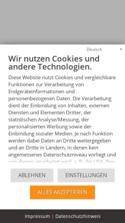 Vorschau der mobilen Webseite www.genios.de, GBI
