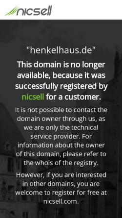 Vorschau der mobilen Webseite www.henkelhaus.de, Henkelhaus