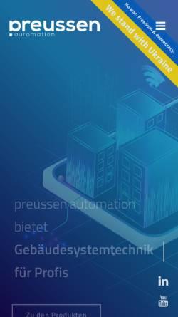 Vorschau der mobilen Webseite www.preussen-automation.eu, Preussen automation GmbH
